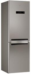 Холодильник с морозильником Whirlpool WBV 3687 NFC IX серебристый