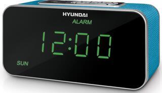 Радиобудильник Hyundai H-1503 [FT-тюнер, календарь, USB/SD, питание 220В/4хААА] аквамарин/индикация зеленая