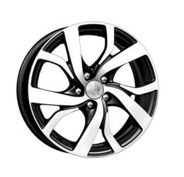 Автомобильный диск литой K&K Палермо 6,5x16 5/108 ET 50 DIA 63,35 Алмаз черный