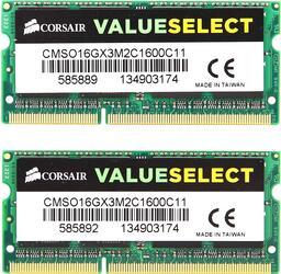 Оперативная память SODIMM Corsair [CMSO16GX3M2C1600C11] 16 ГБ