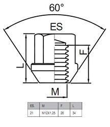 Гайки-секретки HEYNER R1 42545