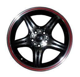 Автомобильный диск литой LS 319 6,5x15 4/100 ET 40 DIA 73,1 BKFRL