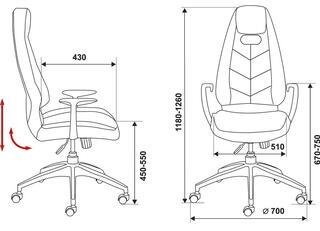 Кресло офисное Бюрократ Zen коричневый