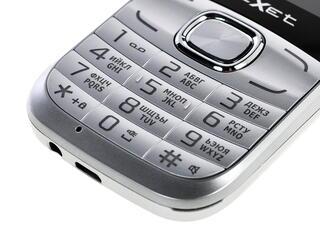 Сотовый телефон Texet TM-D45 серебристый