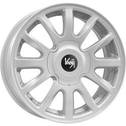 Автомобильный диск литой K&K КС578 6x15 4/98 ET 35 DIA 58,6 Сильвер
