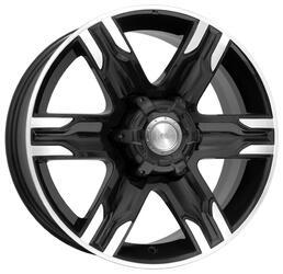 Автомобильный диск Литой K&K Риальто 8x17 6/139,7 ET 30 DIA 106,1 Алмаз черный