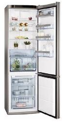 Холодильник с морозильником Hansa FK327.6DFZX серебристый