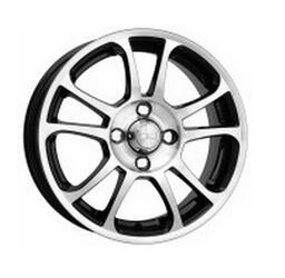 Автомобильный диск Литой K&K Каскад 5,5x14 4/100 ET 35 DIA 67,1 Алмаз черный