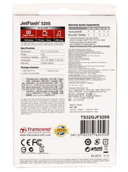 Память USB Flash Transcend JetFlash 520S 32 Гб