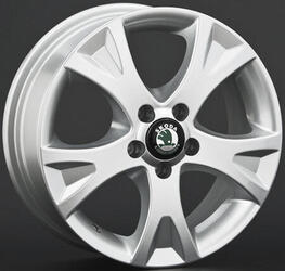 Автомобильный диск литой Replay SK5 6x15 5/114,3 ET 55 DIA 63,3 Sil