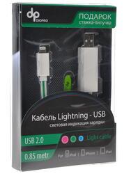 Кабель DIOPRO USB - Lightning 8-pin белый, зеленый