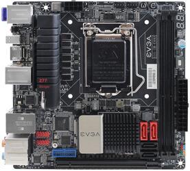 Плата EVGA Z77 Stinger mini-ITX Z77 2xDDR3-2133 PCI-E  SPDIF/HDMI/DP 8ch 2xSATA 2xSATA3  eSATA WiFi GLAN mini-ITX