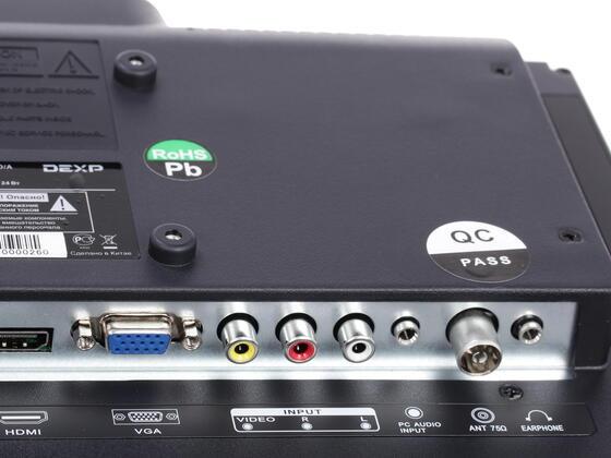 """16"""" (40 см)  LED-телевизор DEXP H16B3000ED/A черный"""