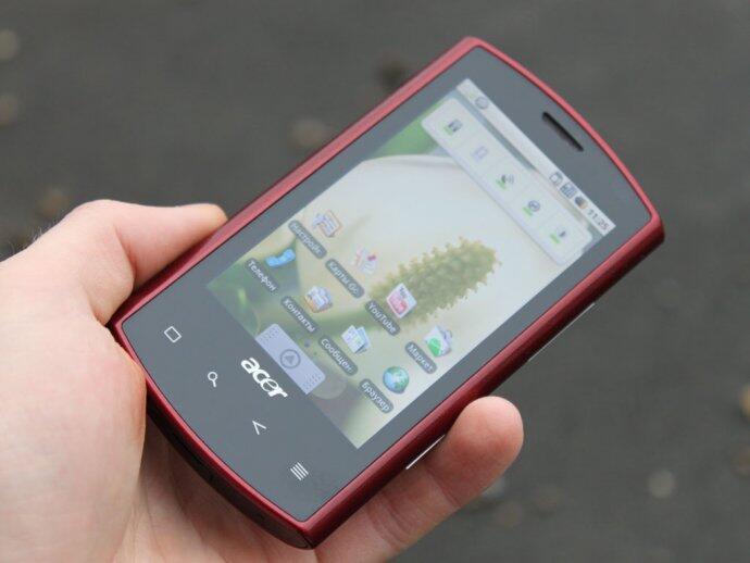 Вес будущего смартфона с кодовым названием acer liquid android составляет 135г