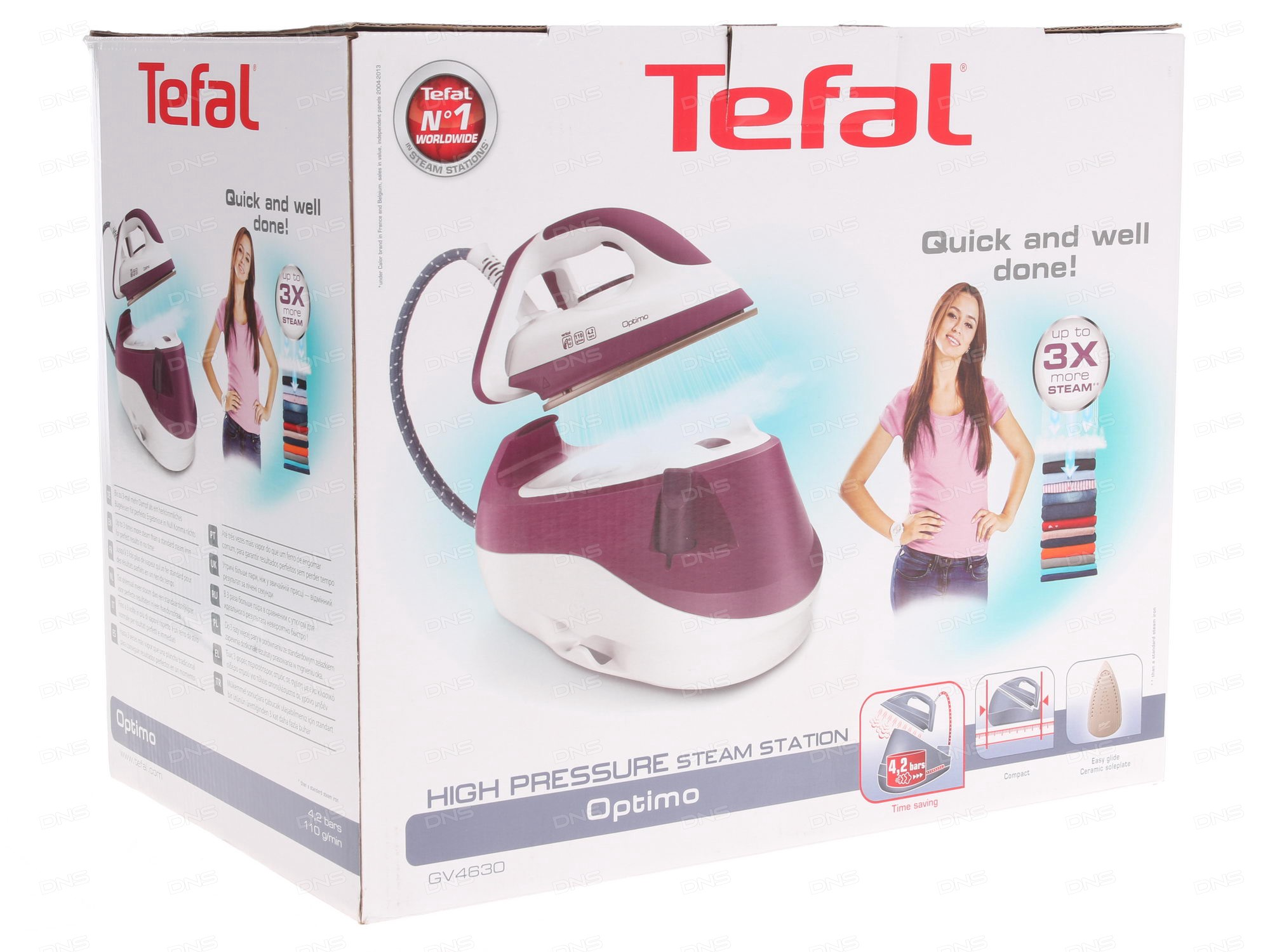 Отзывы покупателей о Паровая станция Tefal GV4630E0. Интернет-магазин DNS