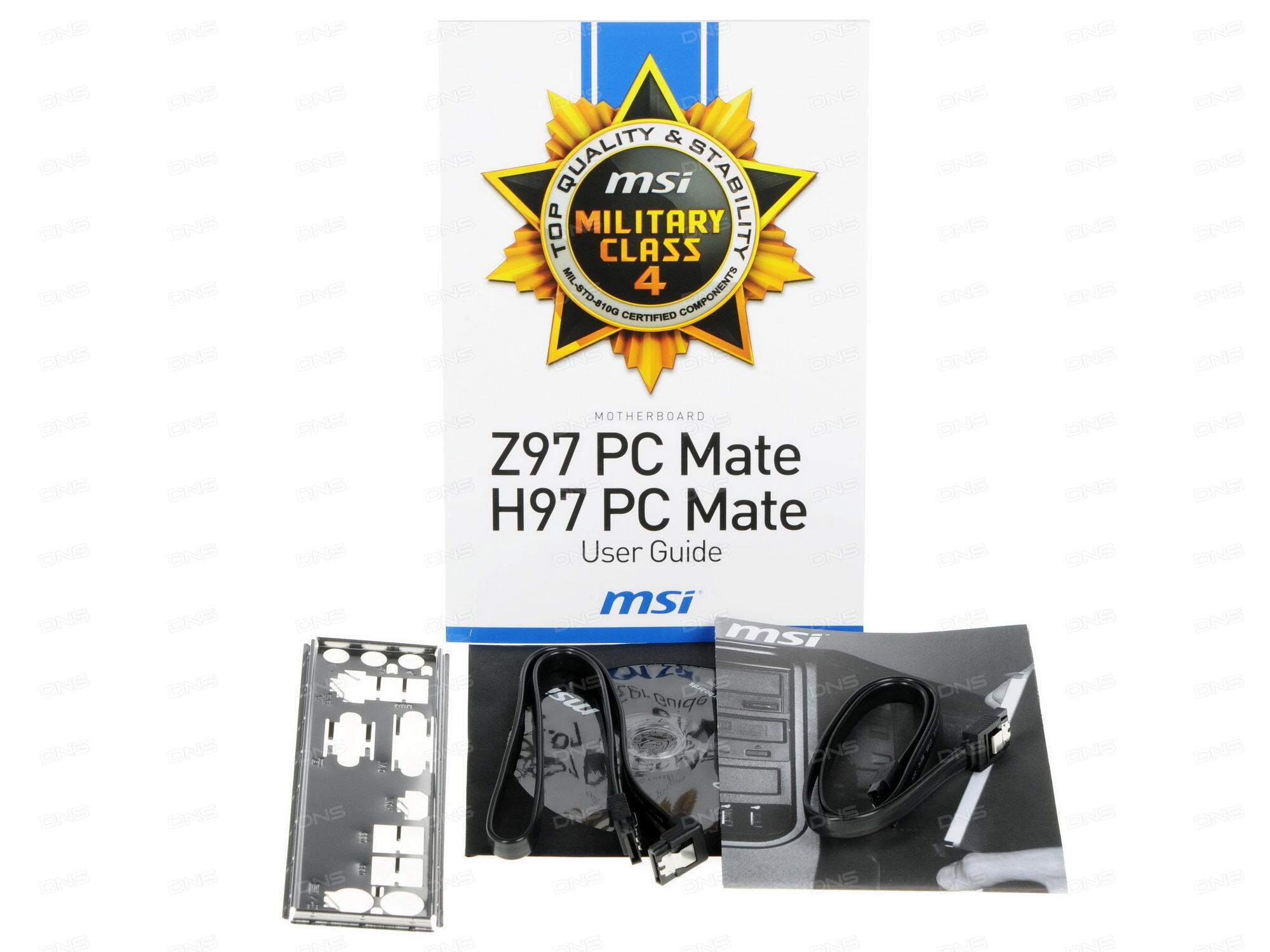 Купить Материнская плата MSI Z97 PC Mate в ...