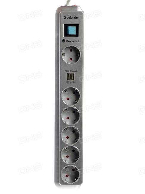Сетевой фильтр Defender E550 5 Sockets 5.0m 99231
