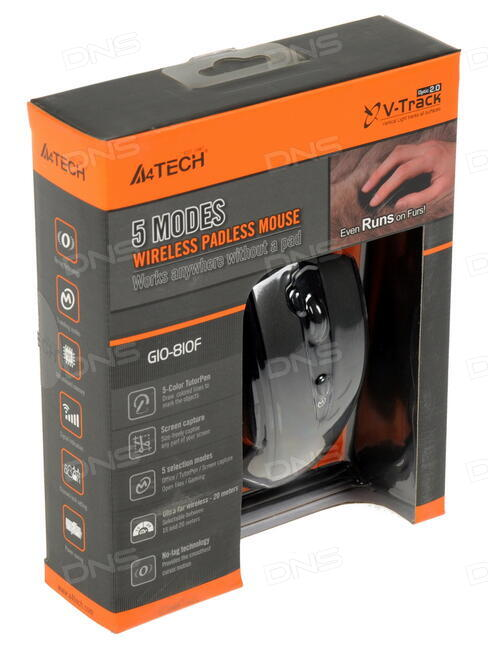 Мышь A4Tech G10-810F USB Black
