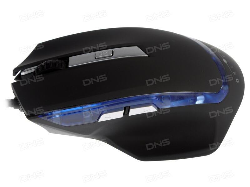 Мышь проводная Oklick DRAGON чёрный синий USB