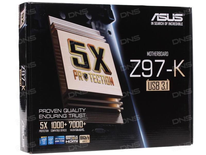 Купить Материнская плата ASUS Z97-K/USB 3.1 в ...
