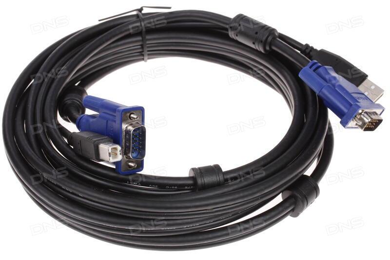 Набор кабелей D-LINK DKVM-CB3 Набор кабелей для DKVM - 2хPS/2,1xVGA 3м