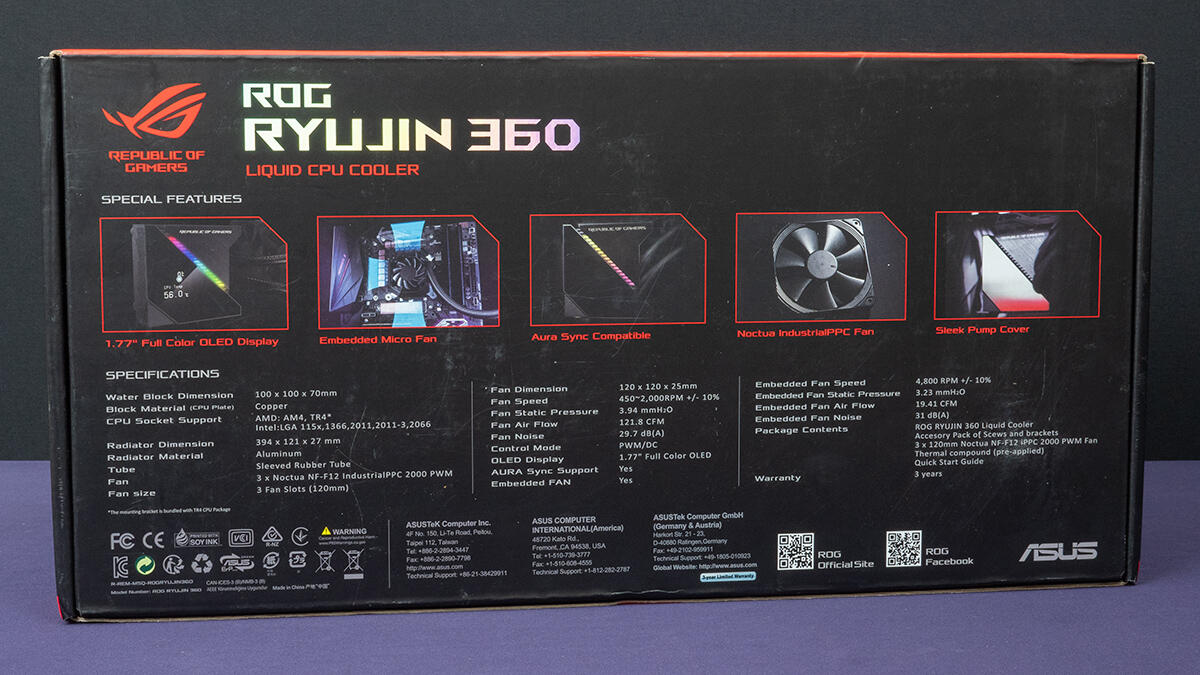 Kompyutery i komplektuyushcie - Obzor sistemy vodyanogo ohlazhdeniya ASUS ROG RYUJIN 360