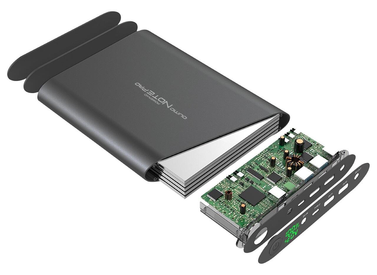 Smartfony i aksessuary - Vneshniy akkumulyator Qumo PowerAid Note Pro 40000 mA-ch
