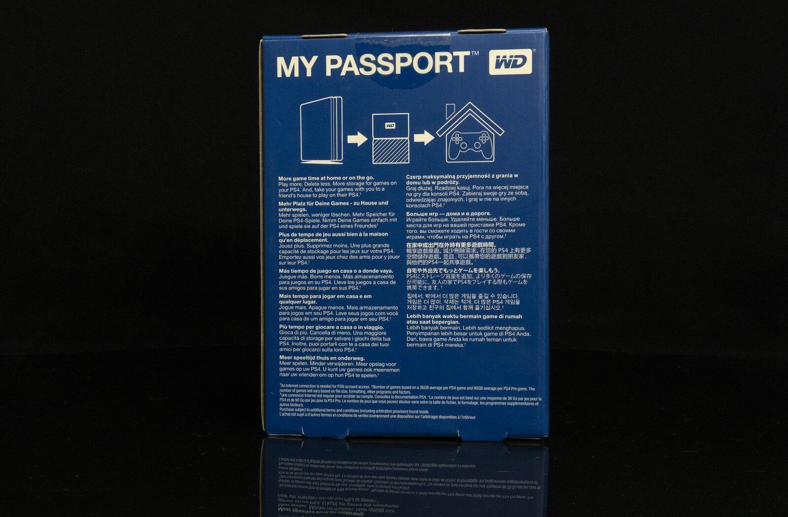 Kompyutery i komplektuyushcie - Obzor vneshnego nakopitelya Western Digital My Passport Game Storage for PS4 [WDBZGE0020BBK-WESN]