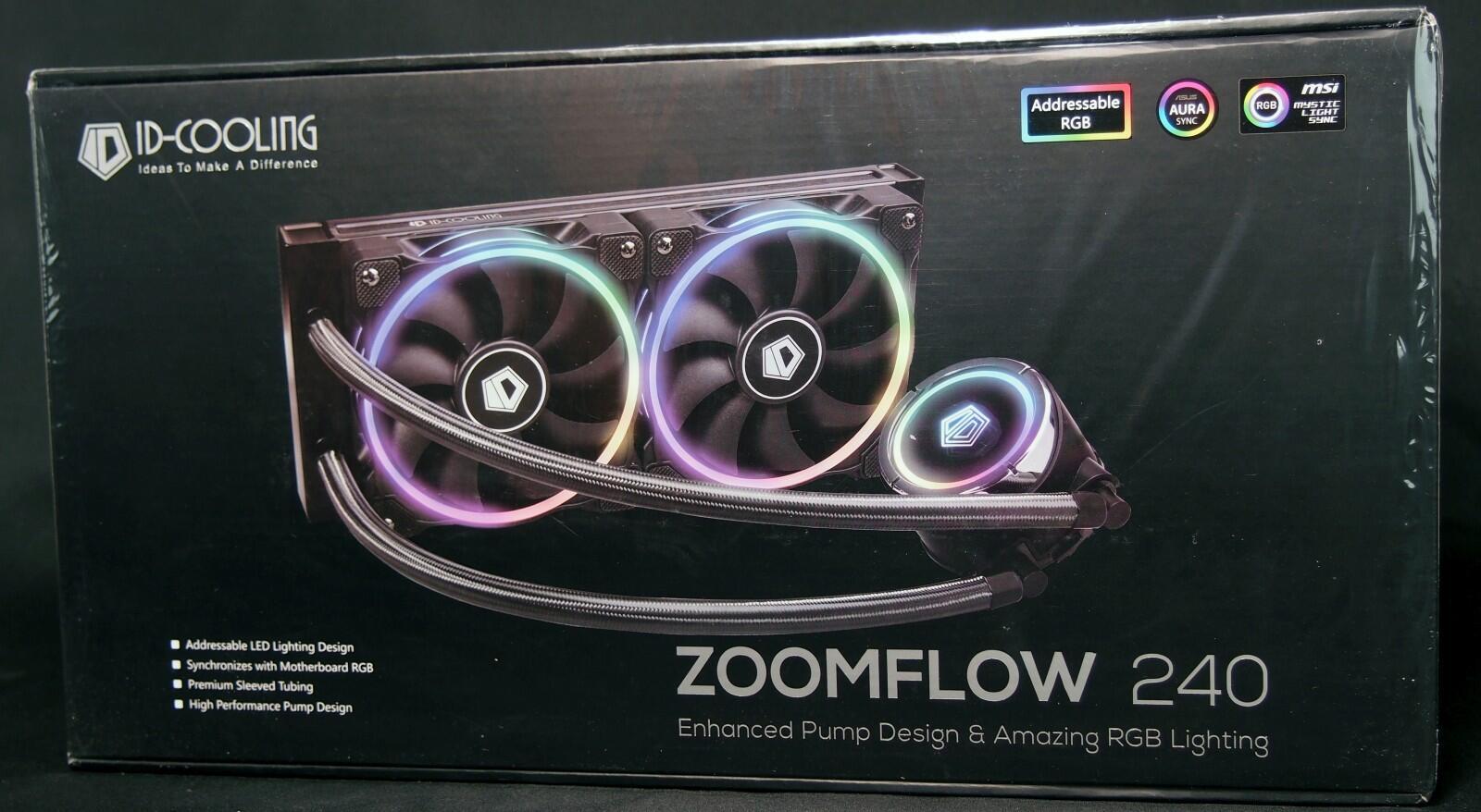 Kompyutery i komplektuyushcie - Obzor sistemy zhidkostnogo ohlazhdeniya ID-Cooling ZoomFlow 240