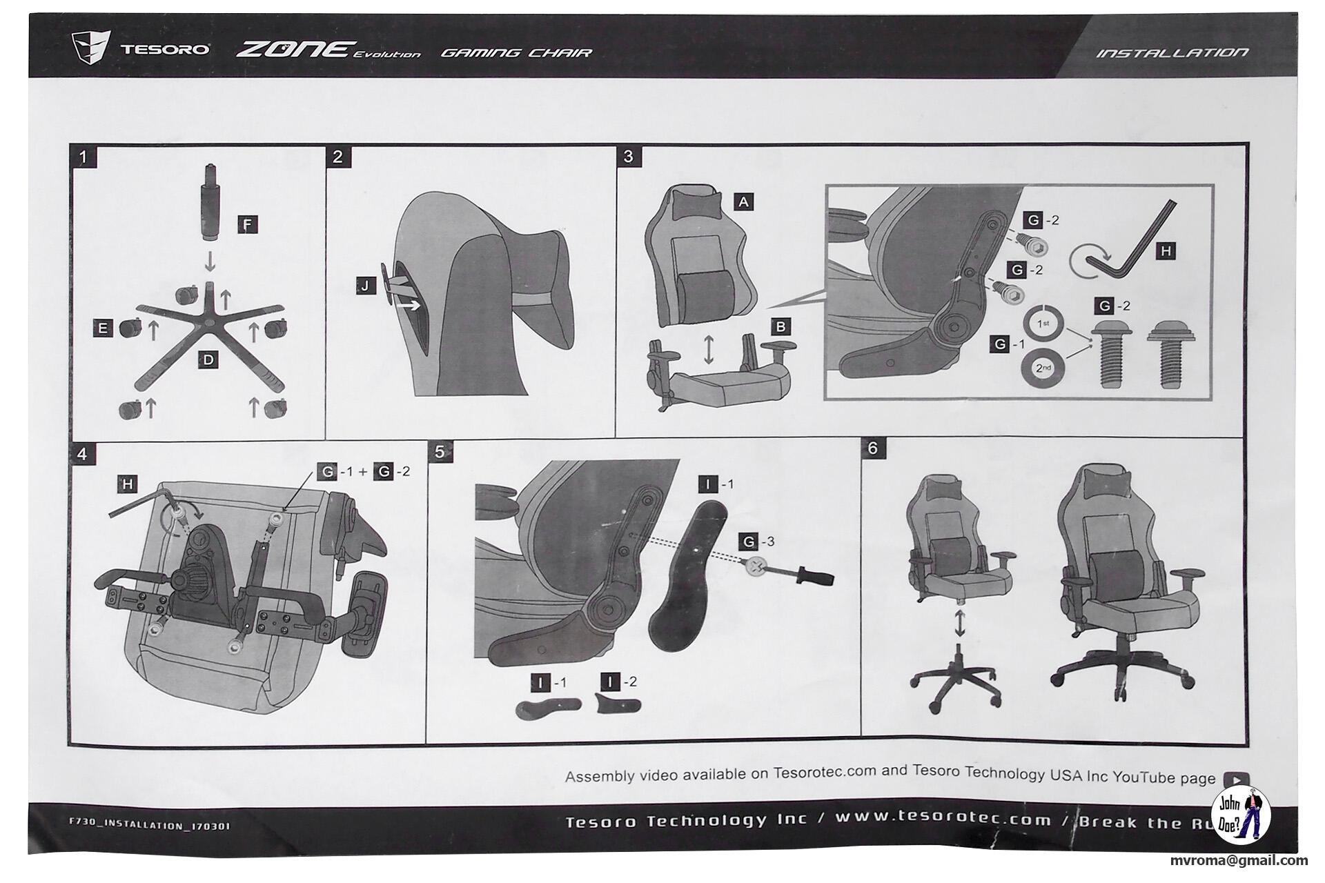 Ofisnaya i torgovaya tehnika - Obzor kresla Tesoro Zone Evolution F730