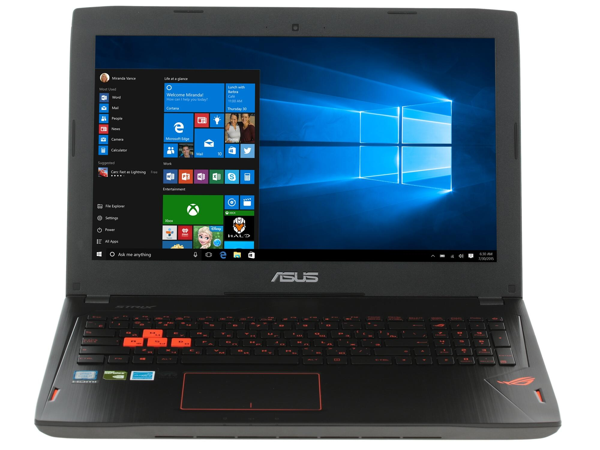 Ноутбук ASUS ROG G501VW-FY131T 90NB0AU3-M01950 (Intel Core i7-6700HQ 2.6 GHz/8192Mb/1000Gb/No ODD/nVidia GeForce GTX 960M 2048Mb/Wi-Fi/Cam/15.6/1920x1080/Windows 10 64-bit)