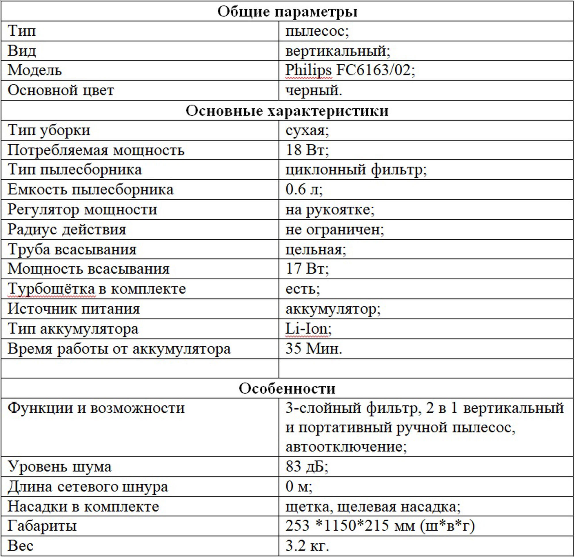 Bytovaya Tehnika - Obzor vertikalnogo pylesosa Philips FC6163/02.