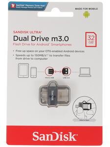 Память OTG USB Flash SanDisk Ultra Dual SDDD3-032G-G46 32 ГБ