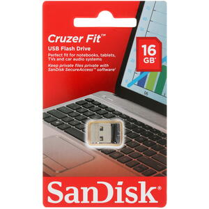 Память USB Flash SanDisk Cruzer Fit [SDCZ33-016G-G35] 16 ГБ