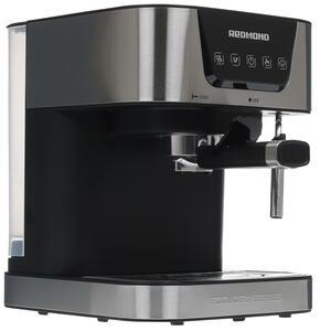 Кофеварка рожковая Redmond RCM-1513 серебристый