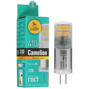 Лампа светодиодная Camelion LED G4/JC/5w/830/12v