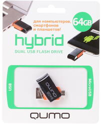 Память OTG USB Flash QUMO  64 Гб