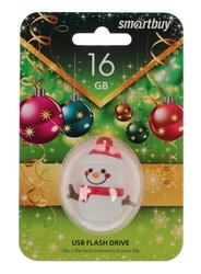 Память USB Flash Smartbuy NY series Снеговик Snow Paul 16 Гб