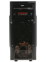 Корпус Miditower GMC Double-X черный