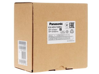 IP-телефон PANASONIC KX-HDV130RUB черный