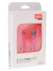 Кабель Nobby 7727 USB - Lightning 8-pin розовый