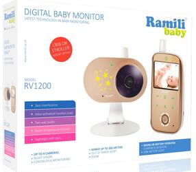 Видеоняня Ramili Baby RV1200SP2 коричневый