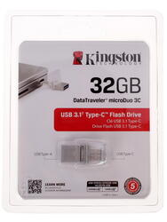 Память OTG USB Flash Kingston DataTraveler MicroDuo 3C  32 ГБ