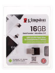 Память OTG USB Flash KINGSTON MicroDuo  16 ГБ