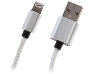 Кабель Qumo Apple  USB 2.0 - MFI Lightning 8-pin серебристый