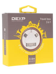 Кабель DEXP Travel box USB - micro USB белый