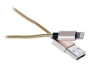 Кабель Qumo USB - Lightning 8-pin золотистый
