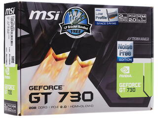 Видеокарта MSI GeForce GT 730 Silent LP [N730K-2GD3H/LP]