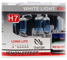 Галогеновая лампа ClearLight H7 WhiteLight