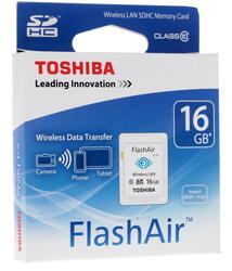 Карта памяти Toshiba FlashAir W-03 SDHC 16 Гб